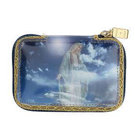 Astuccio portaviatico blu Beata Vergine teca diam 5,5 cm s7