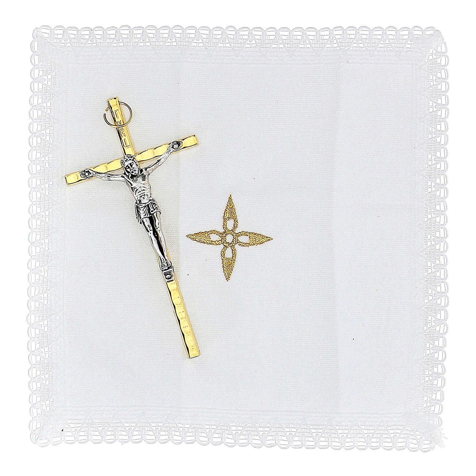 Étui pour viatique rouge Notre-Dame de Guadalupe custode diam. 5,5 cm 3