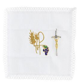 Bolsa dorada de tejido brocado con bordados 10,5x9,5 s3