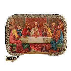 Orange sick call set with Last Supper case, pyx 5.5 cm s1