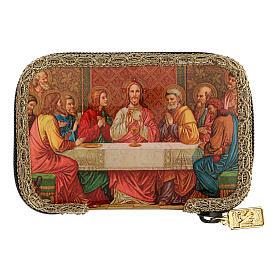 Orange sick call set with Last Supper case, pyx 5.5 cm s7