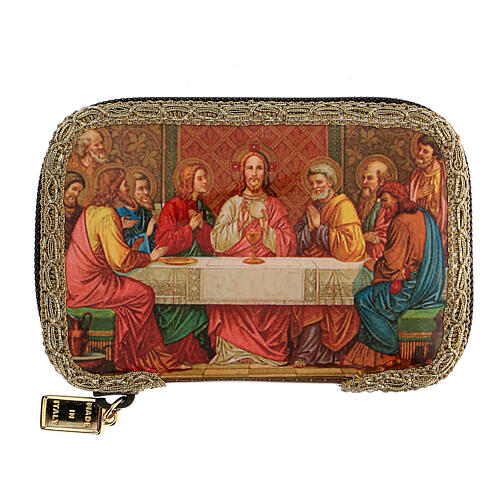 Orange sick call set with Last Supper case, pyx 5.5 cm 1