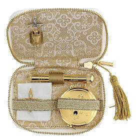 White sick call set with embroidered lamb, pyx 5.5 cm s2