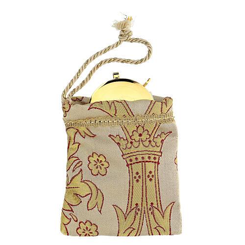 Sachet pour viatique en tissu brocard custode 5 cm 1