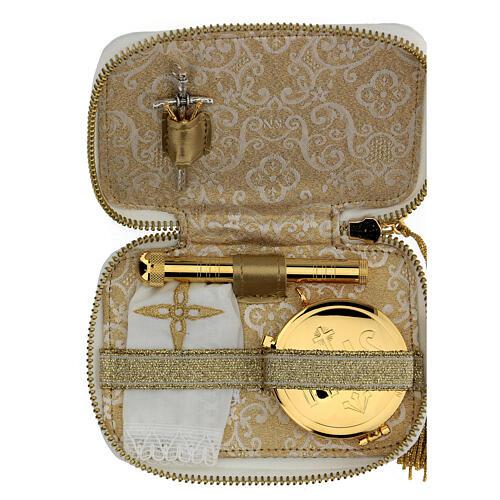 Viaticum burse of artificial leather golden lamb 1
