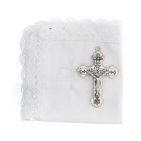 Astuccio set comunione con croce e purifichino pelle bianco s2