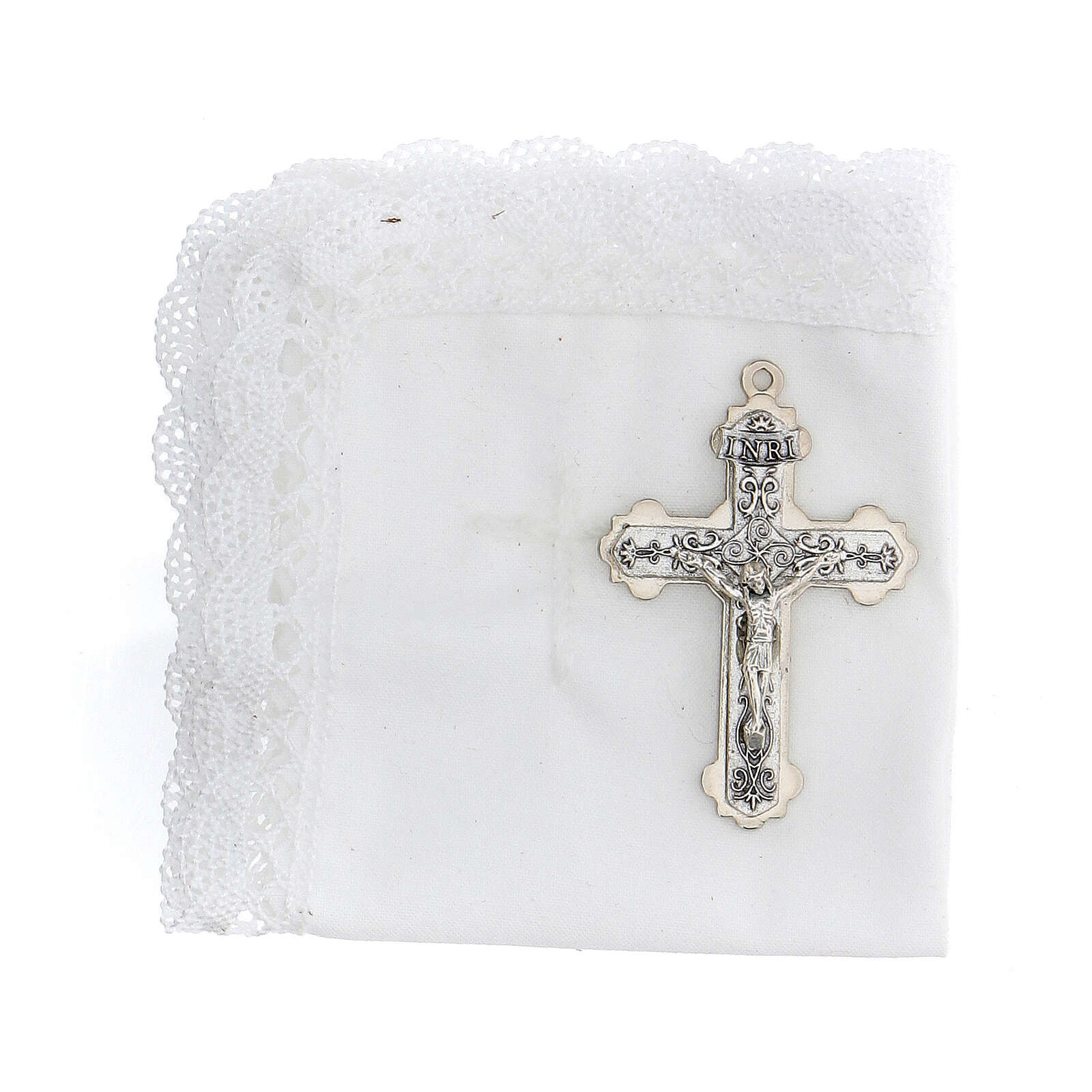 Communion set case with cross and purifier green leather 3