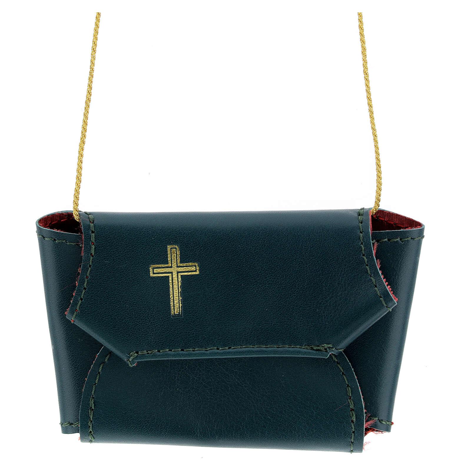 Astuccio set comunione con croce e purifichino pelle verde 3