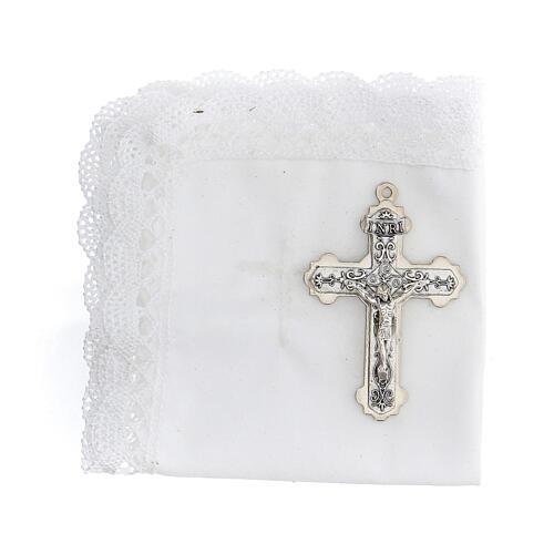 Astuccio set comunione con croce e purifichino pelle verde 2