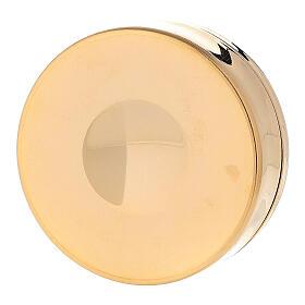 Teca ottone dorato IHS coperchio inciso 3x10 cm s3