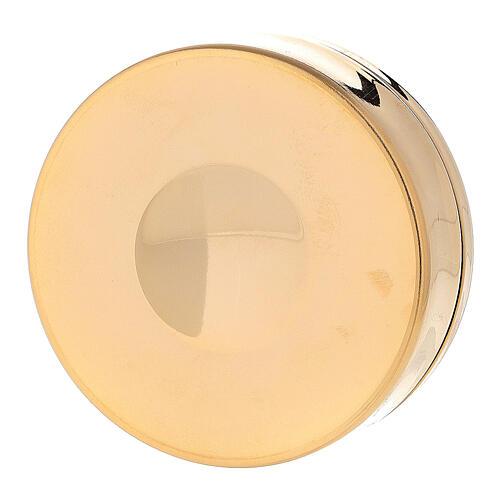 Teca ottone dorato IHS coperchio inciso 3x10 cm 3