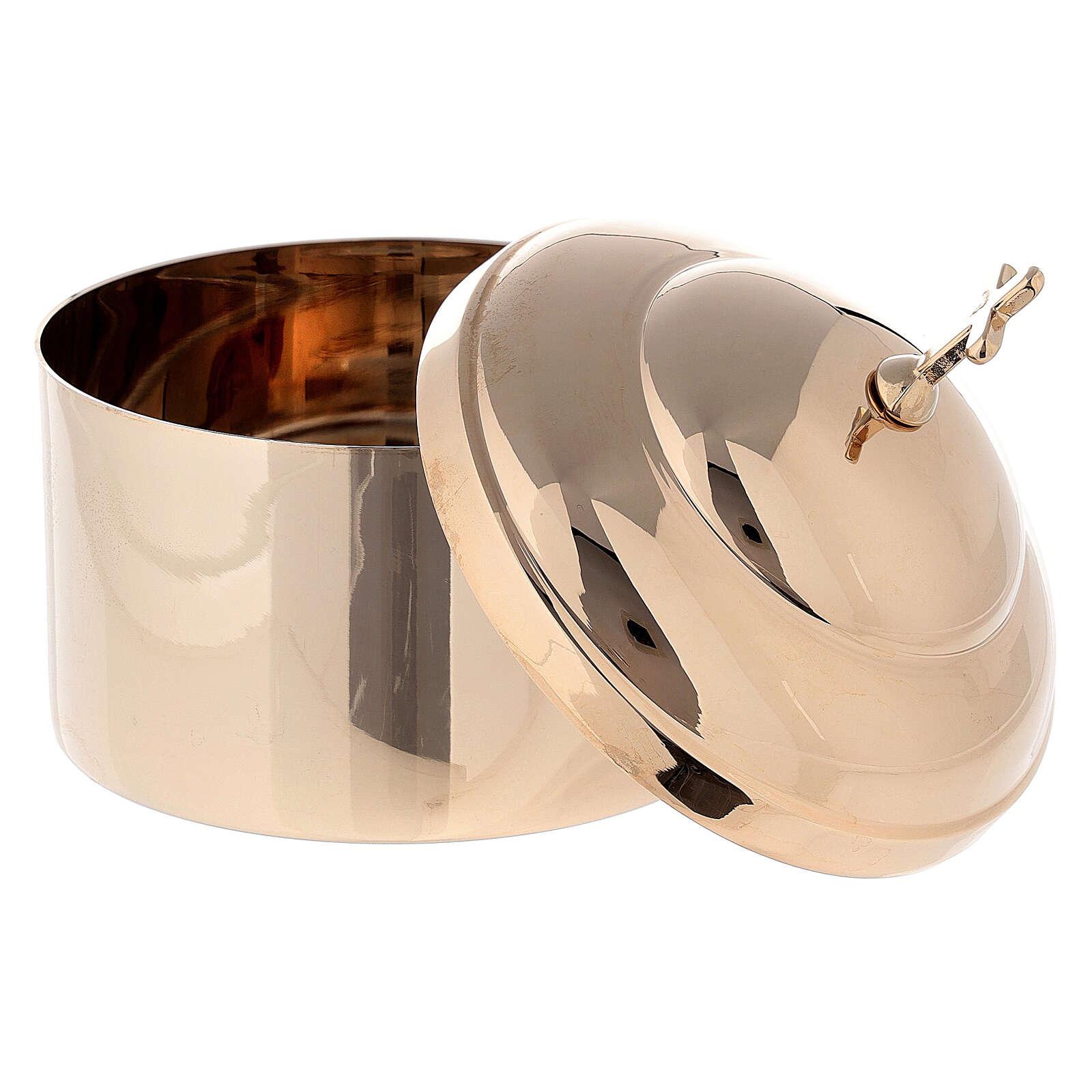 Hostbox in shiny golden brass 3