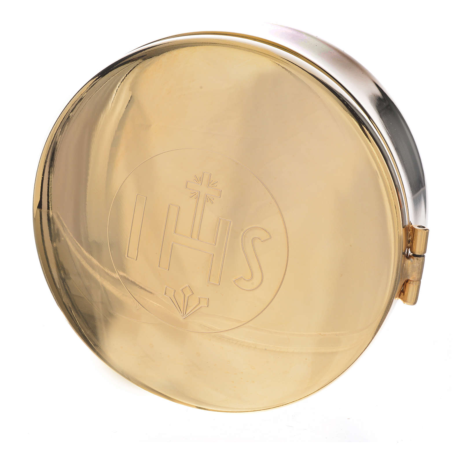 Scatola portaostie ottone diam 9,5 cm 4