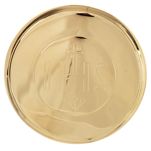 Golden brass pyx with IHS engraving, 7cm diameter 1