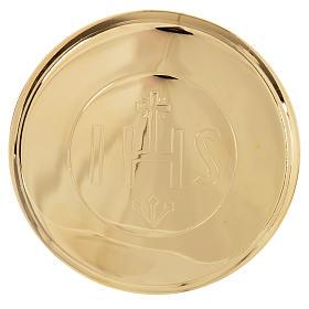 Caja para Hostia  Latón dorado IHS diam 7 cm s1