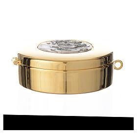 Teca diametro cm 8 con medaglia peltro Ultima Cena s3