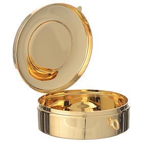 Teca diametro cm 8 con medaglia peltro Ultima Cena s2