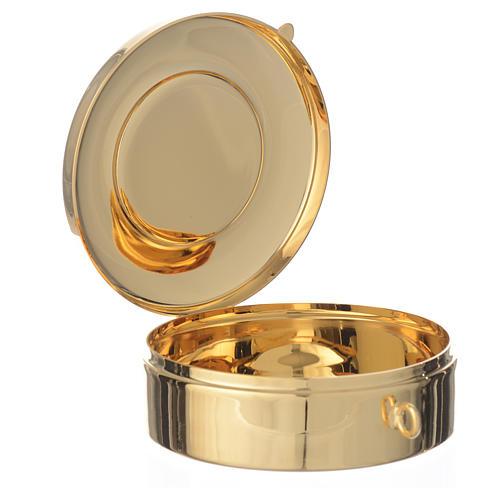 Teca diametro cm 8 con medaglia peltro Ultima Cena 2