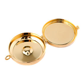 Pyx with pewtre chalice JHS XP plate s2