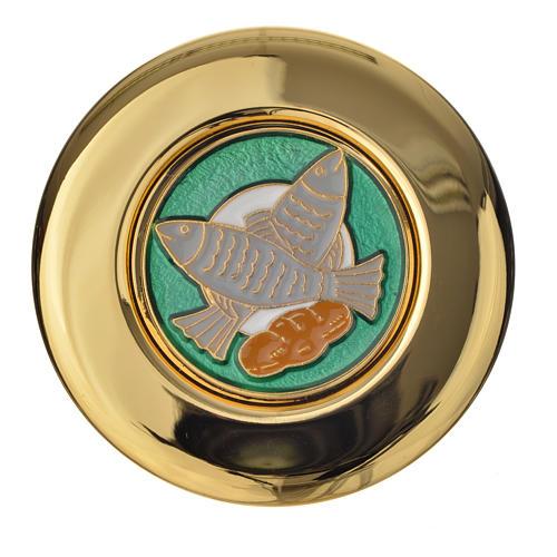 Teca ostia magna placca smaltata pani pesci 1