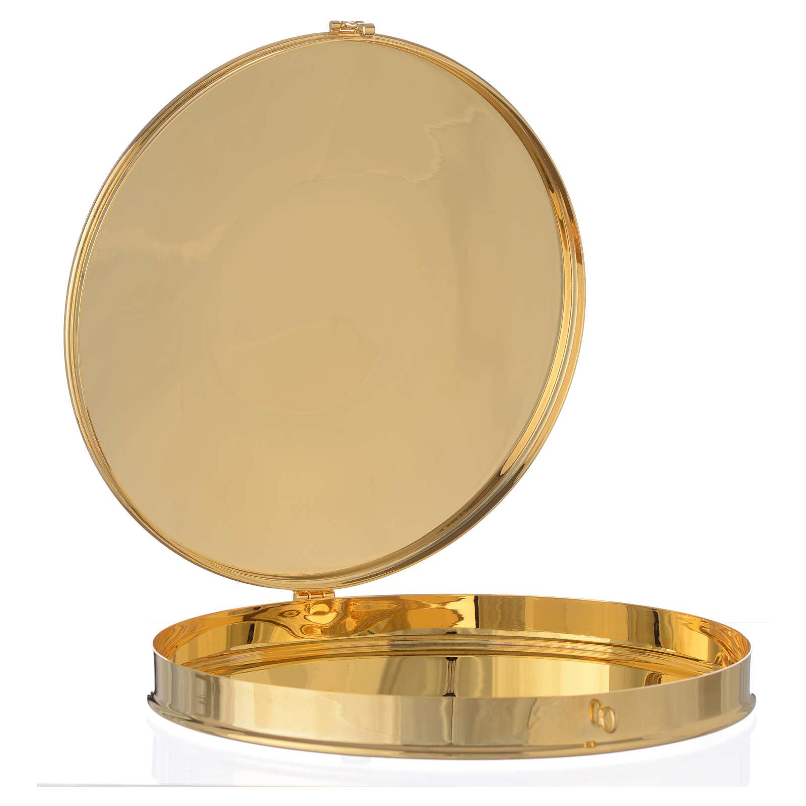 Caja para hostia Magna Latón dorado 24.5 cm 3