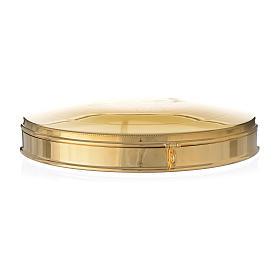 Teca per Ostia Magna ottone dorato cm 21,5 s3