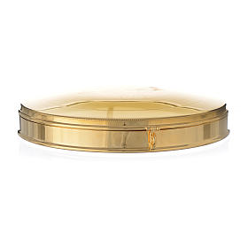 Pyx for big host in gold plated brass 21.5cm s3
