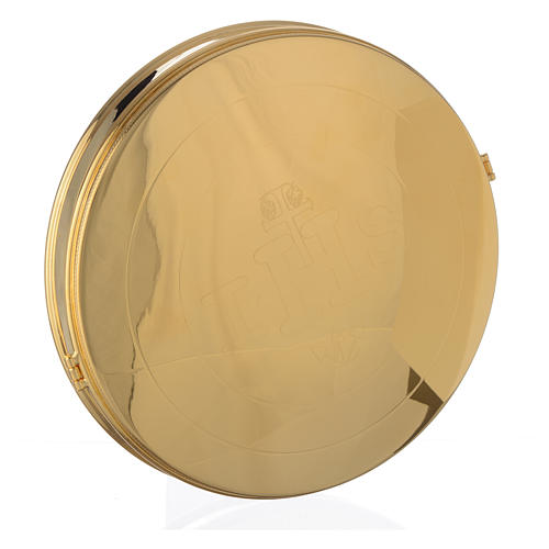 Pyx for big host in gold plated brass 21.5cm 1