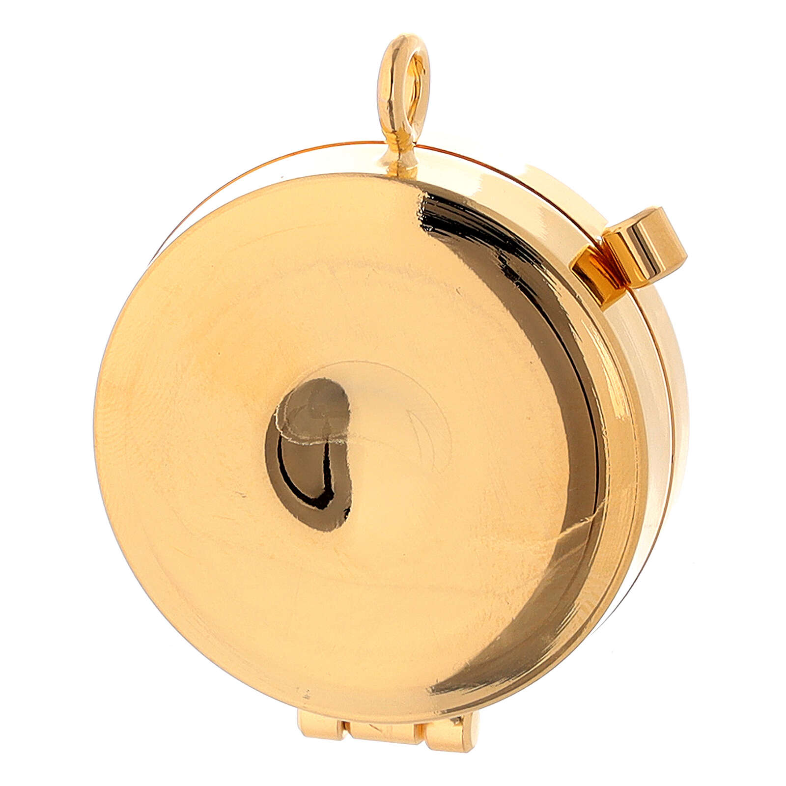 Porta-viático Tau y cuerda en esmalte 3