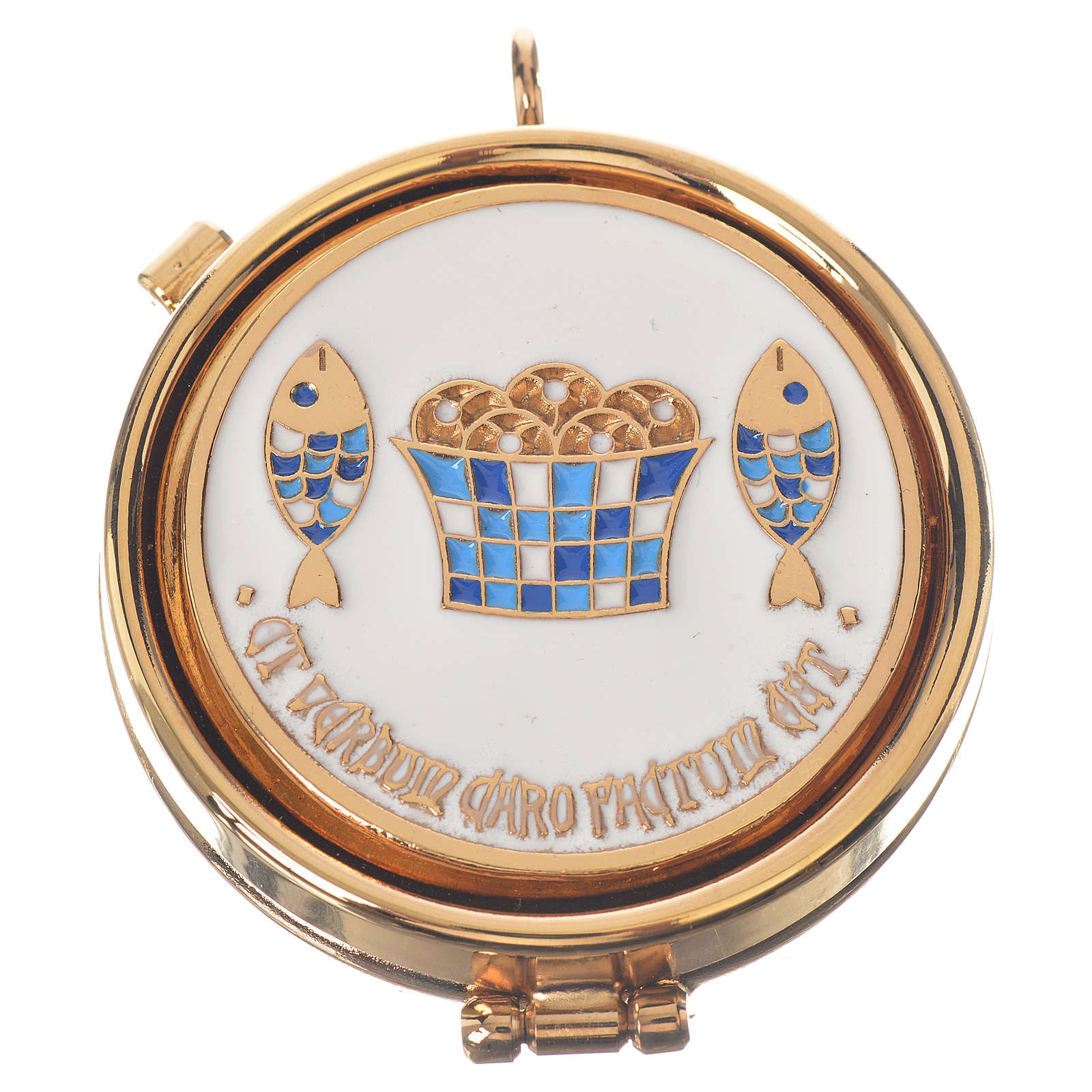 Pyx of Tabgha with loaves and fishes, 5.3cm diameter 3