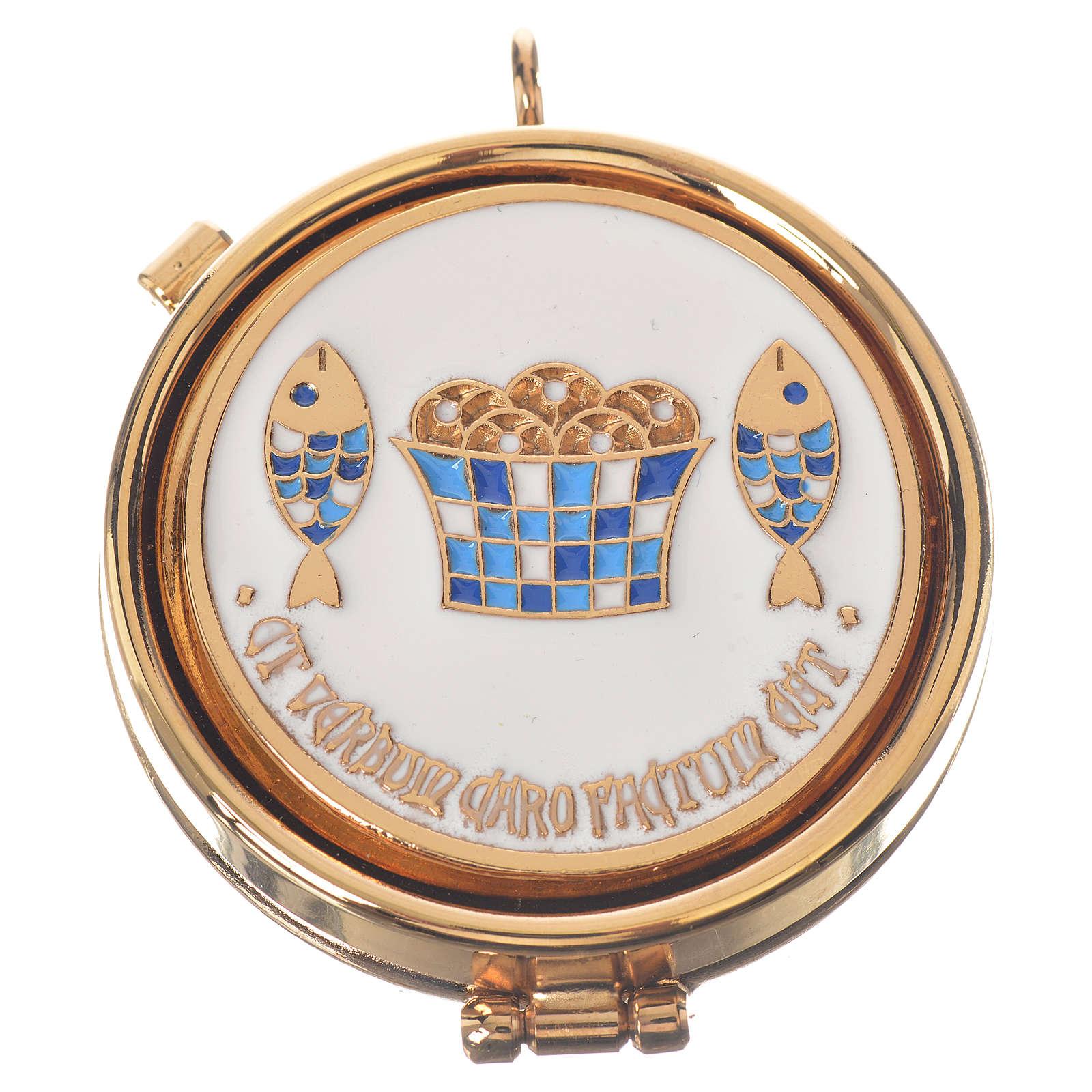 Caja para hostia  Tagba placa pan Pez diam 5.3 cm 3
