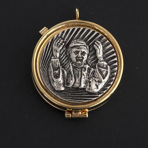 Teca eucaristica placca argentata Benedetto XVI 2