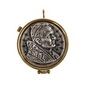 Custode pour eucharistie plaque argentée Jean-Paul II s1