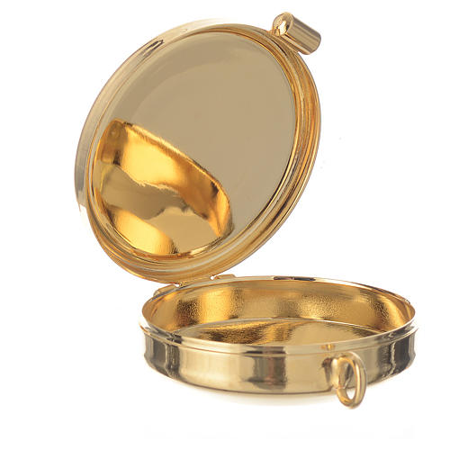 Mini pyx in enamelled brass with fish symbol 2