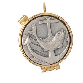 Caja para hostia mini pez Peltre s4