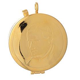 Teca dorata Karol Wojtyla diam 5,3 cm s1