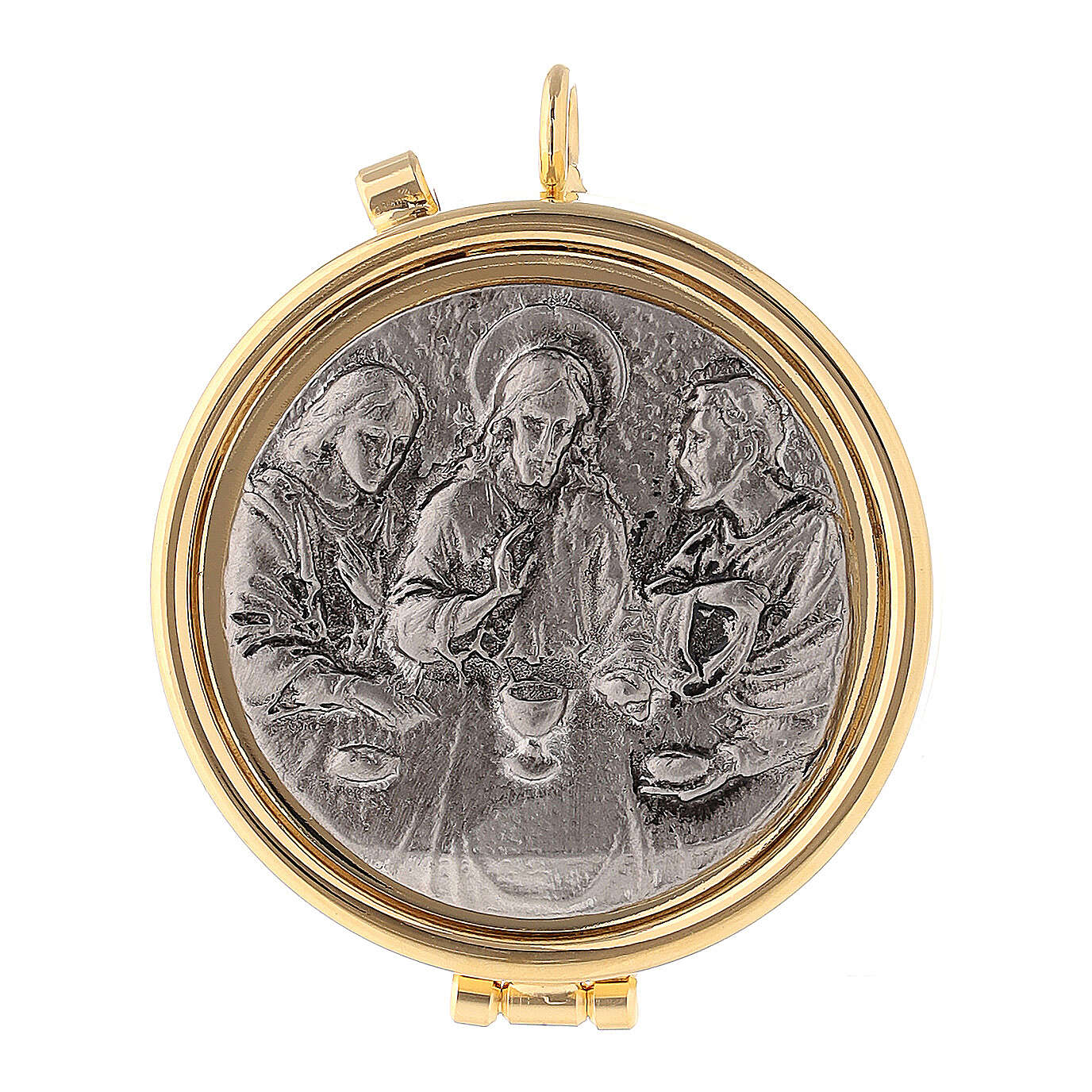 Last Supper silvery pyx 3