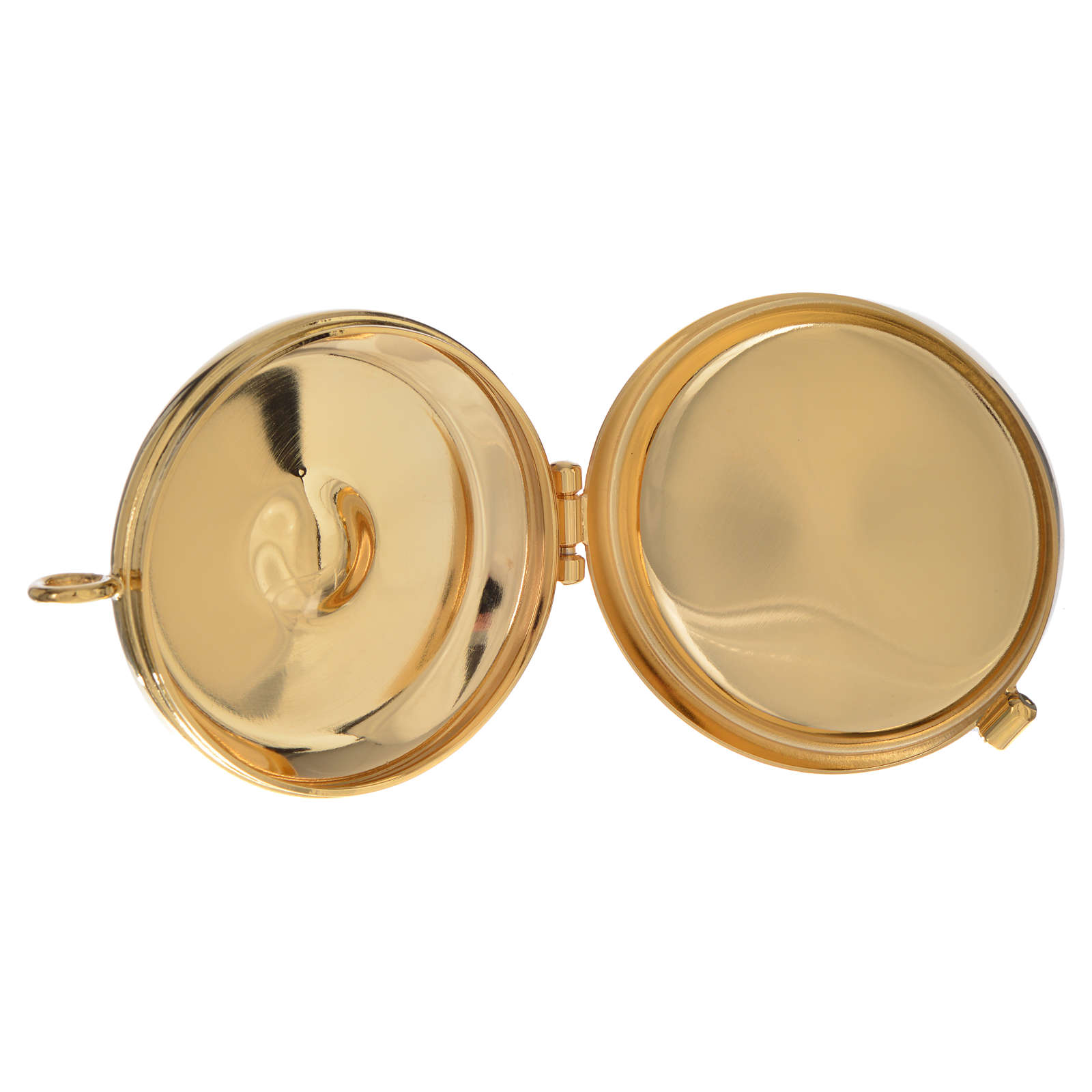 Caja para hostia plateada Cordero diámetro 53 mm 3