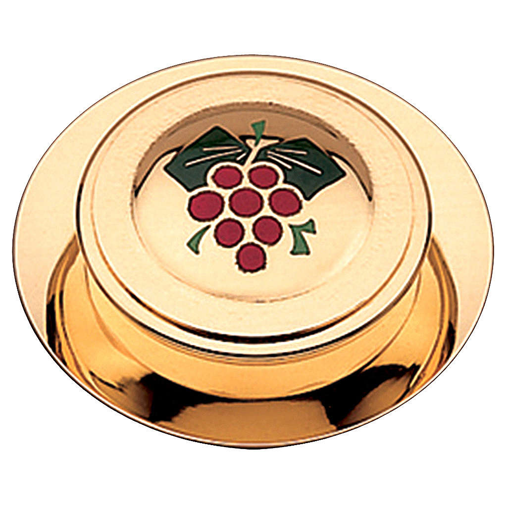 Teca moderna per ostie finitura dorata smalto uva Molina 10,5 cm 3