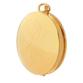 Teca per ostie ottone dorato incisione a mano PAX Molina s2