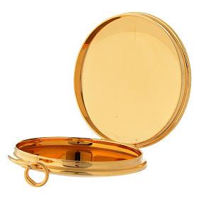 Teca per ostie ottone dorato incisione a mano PAX Molina s3