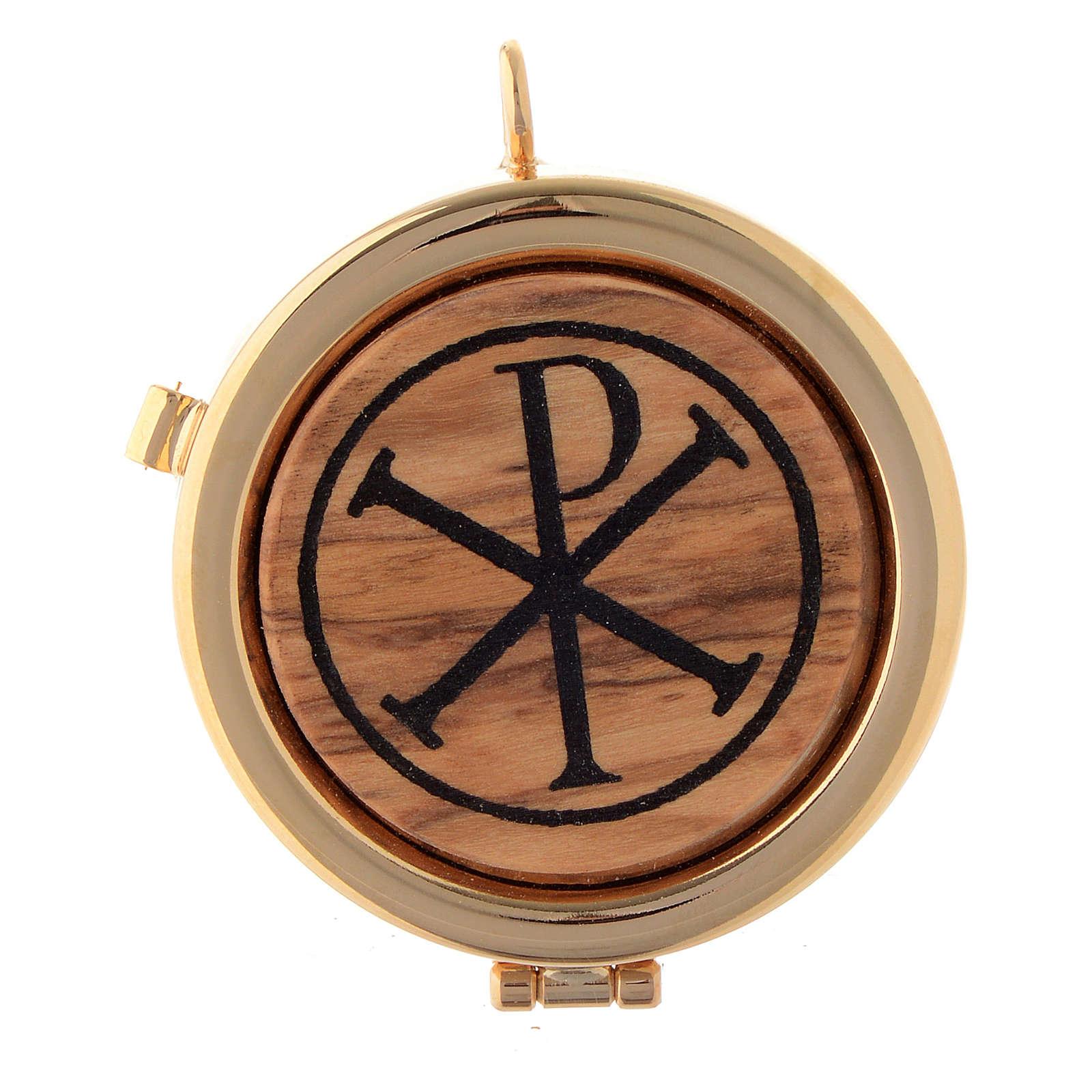 Teca placca ulivo simbolo XP diam. 6 cm 3