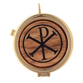 Teca placca ulivo simbolo XP diam. 6 cm s1