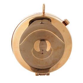Custode plaque olivier Padre Pio diam. 5 cm s3