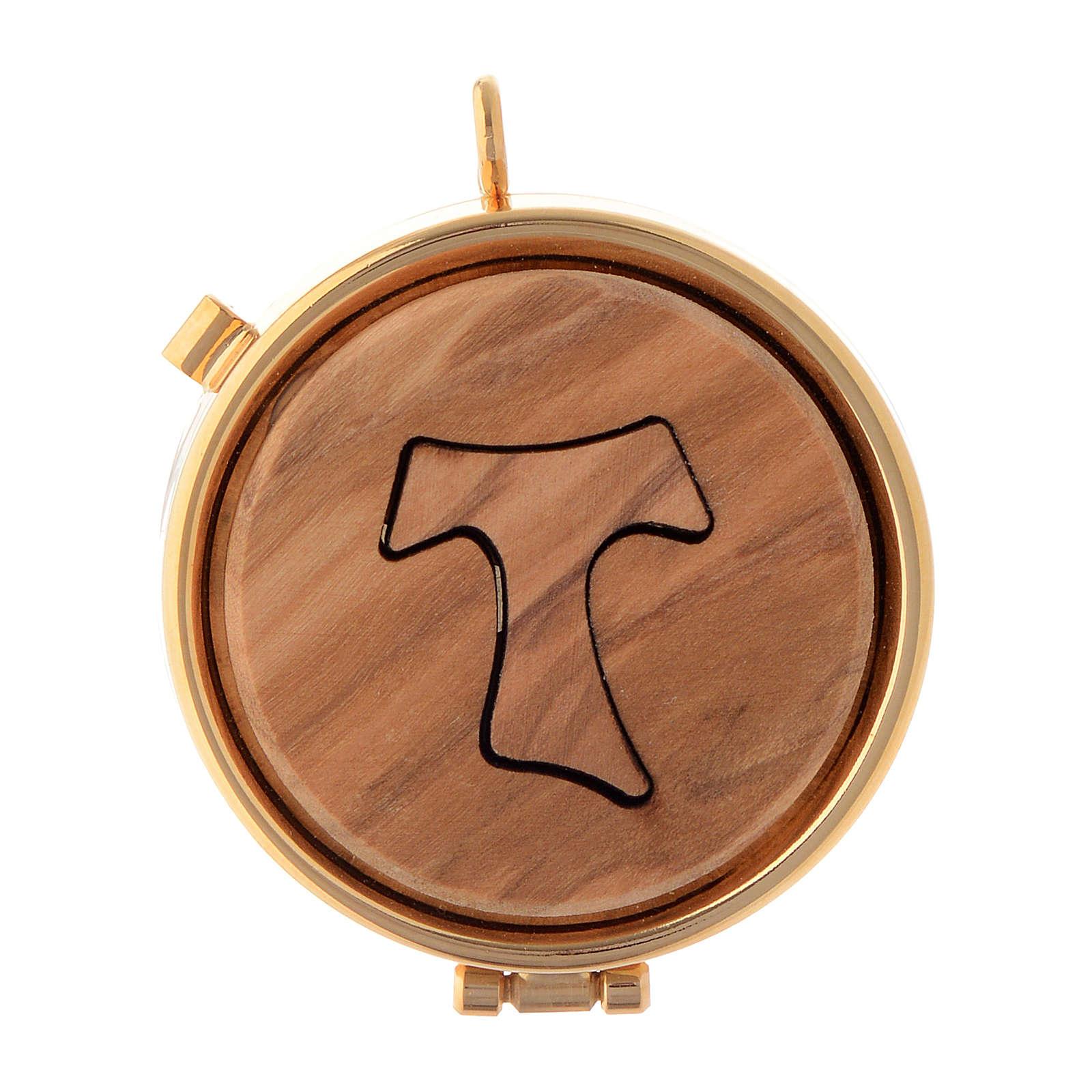 Cyborium płytka drewno oliwne Tau średn. 5 cm 3