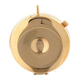 Custode avec plaque olivier Vierge de Lourdes diamètre 5 cm s3