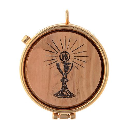 Pyx olive wood plaque chalice design 5cm 1