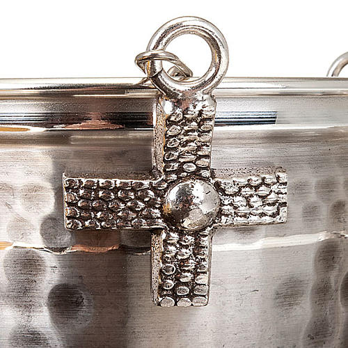 Thurible and boat, embossed and cross decorated 3