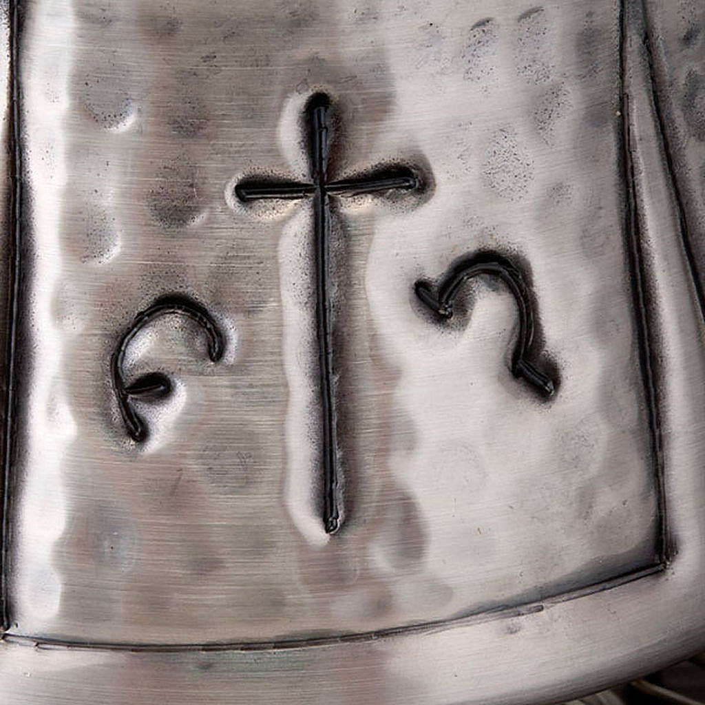 Turibolo e navetta cesellato croce 3