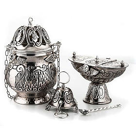 Thuribles and boats: Chiselled thurible and boat